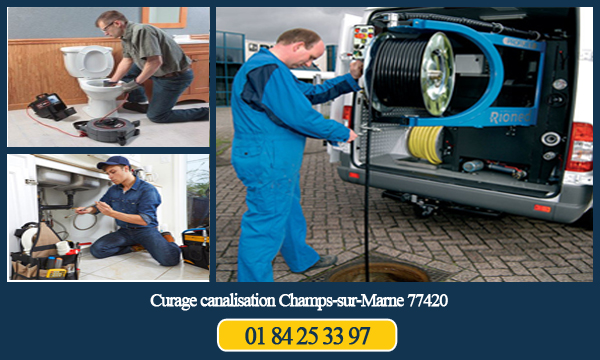 Curage canalisation Champs-sur-Marne 77420
